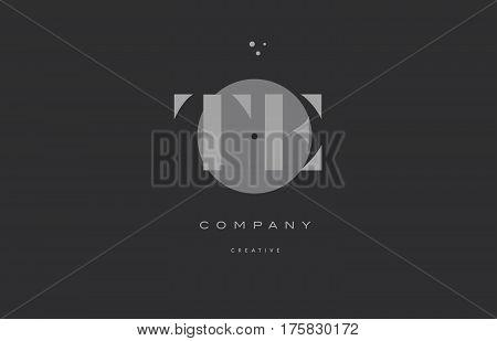 Te T E  Grey Modern Alphabet Company Letter Logo Icon