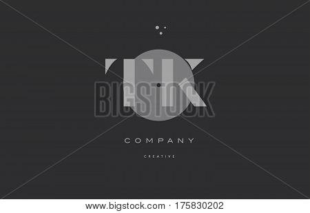 Tk T K  Grey Modern Alphabet Company Letter Logo Icon