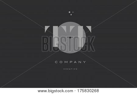 Tt T  Grey Modern Alphabet Company Letter Logo Icon