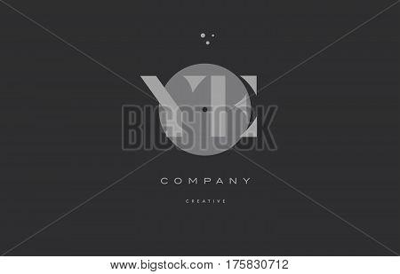 Ye Y E  Grey Modern Alphabet Company Letter Logo Icon