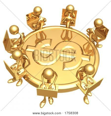 Networking On Golden Dollar Coin