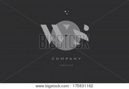 Ws W S  Grey Modern Alphabet Company Letter Logo Icon