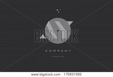 Ay A Y  Grey Modern Alphabet Company Letter Logo Icon