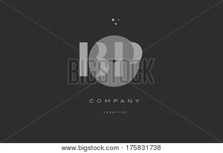 Bp B P  Grey Modern Alphabet Company Letter Logo Icon
