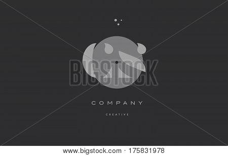 Cs C S  Grey Modern Alphabet Company Letter Logo Icon