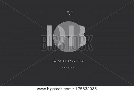 Db D B  Grey Modern Alphabet Company Letter Logo Icon