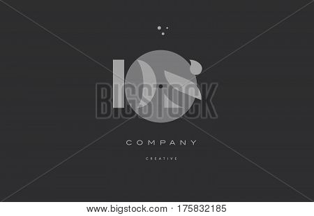 Ds D S  Grey Modern Alphabet Company Letter Logo Icon