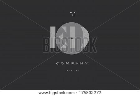 Ed E D  Grey Modern Alphabet Company Letter Logo Icon