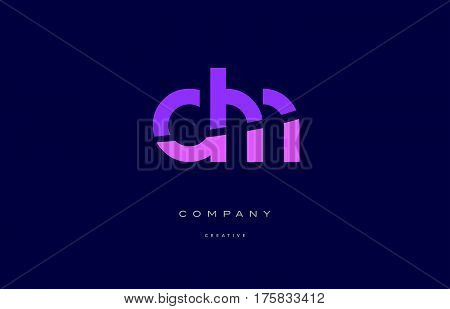 Dm D M  Pink Blue Alphabet Letter Logo Icon