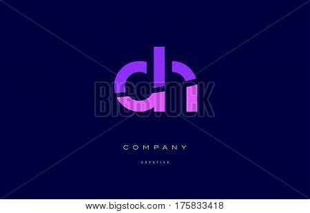 Dn D N  Pink Blue Alphabet Letter Logo Icon