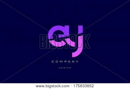 Ey E Y  Pink Blue Alphabet Letter Logo Icon