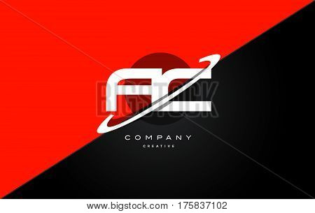 Ac A C  Red Black Technology Alphabet Company Letter Logo Icon