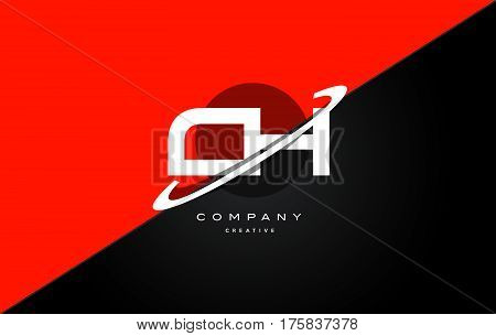 Ch C H  Red Black Technology Alphabet Company Letter Logo Icon