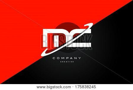 Mc M C  Red Black Technology Alphabet Company Letter Logo Icon