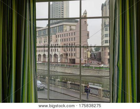 View Of Street In Moscow, Russia