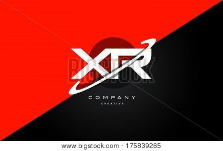 Xr X R  Red Black Technology Alphabet Company Letter Logo Icon