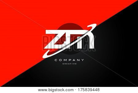 Zm Z M  Red Black Technology Alphabet Company Letter Logo Icon