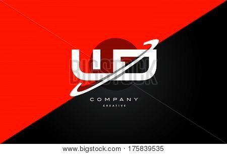 Wd W D  Red Black Technology Alphabet Company Letter Logo Icon