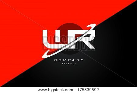 Wr W R  Red Black Technology Alphabet Company Letter Logo Icon