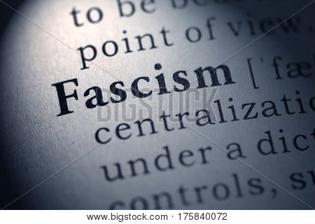 Fake Dictionary Dictionary definition of the word fascism.