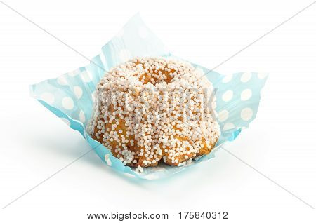 Garibaldi traditional Mexican sweet bread with chochitos isolated on white background