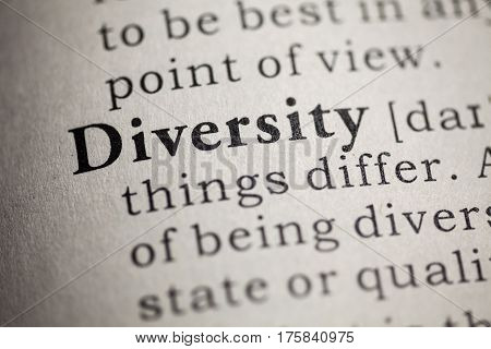 Fake Dictionary Dictionary definition of the word diversity.