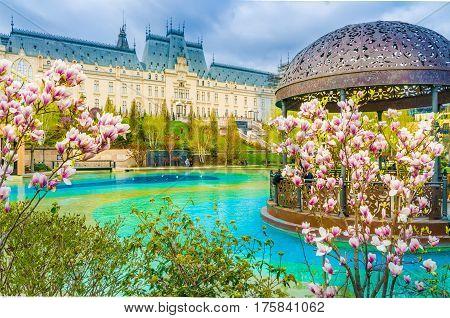 Spring season in Iasi city, Moldavia Romania.