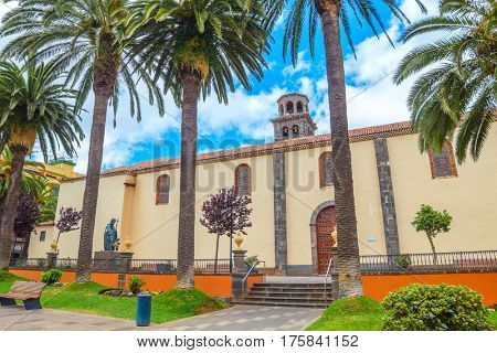 The Iglesia-Parroquia Matriz de Nuestra Senora de La Concepcion or Church of the Immaculate Conception in La Laguna, Tenefife, Spain.