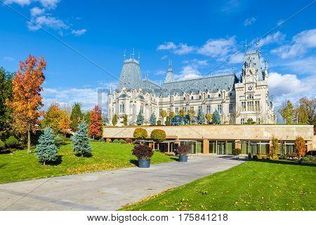 Beautiful autumn in Iasi city, Moldavia Romania
