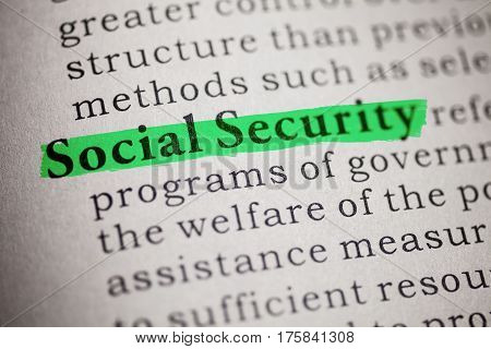 Fake Dictionary Dictionary definition of social security.