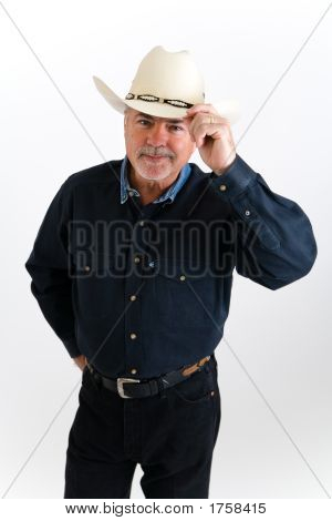 Cowboy Tipping Hat