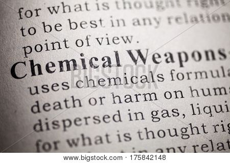 Dictionary definition of Chemical Weapons.
