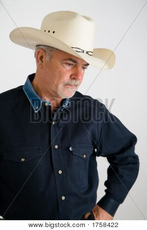 Cowboy Looking Sad