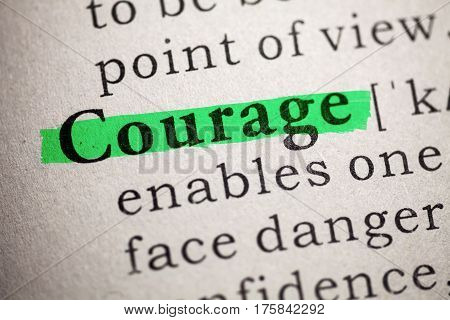 Fake Dictionary Dictionary definition of the courage.
