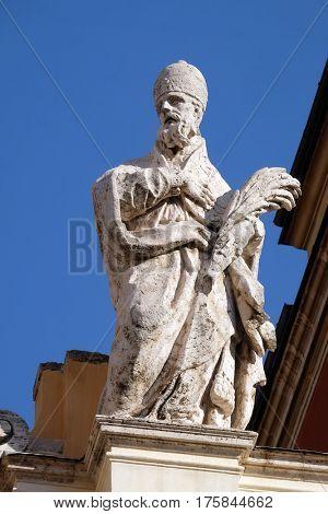 ROME, ITALY - SEPTEMBER 03: Saint Stephen, Basilica of Saint Sylvester the First (San Silvestro in Capite) in Rome, Italy on September 03, 2016.