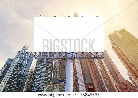Billboard Or Advertising Poster For Advertisement Concept Background