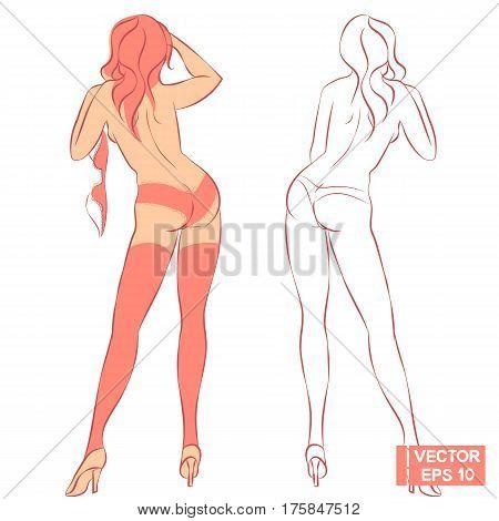 Beautiful Woman Undresses