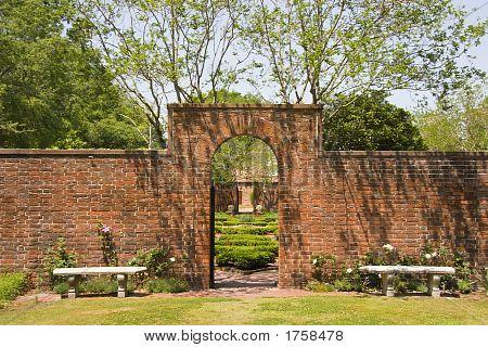 Garden Entrance At Tryon Palace