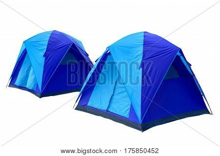 Tents isolated on white This has clipping path.