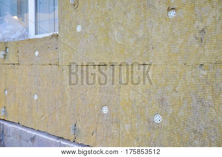 Home Insulation & Reduced Heat Loss for Energy Saving. House insulation cost. Home improvement for House Energy efficiency outdoor. External Wall Insulation.