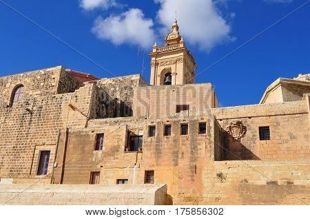 Citadel fortress on island Gozo near Malta island