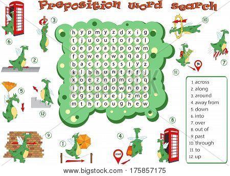 Cartoon Dragon. English Grammar In Pictures