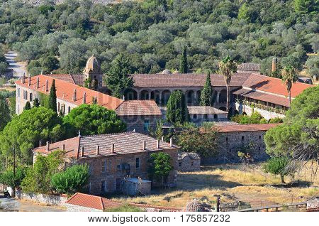 one of chrches of Limonos monastery,Lesbos island,Greece