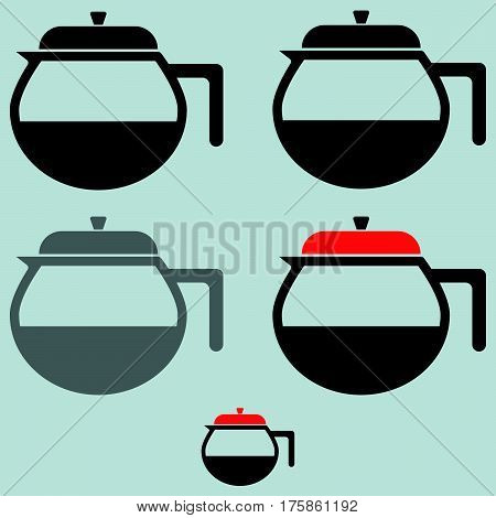 The Black Coffee Maker Or Container.