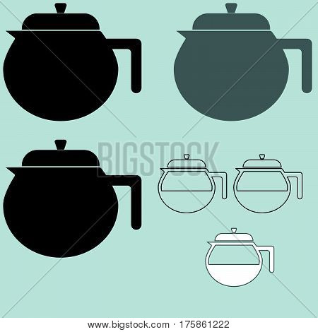 The Black Coffee Maker Or Container Different Color.