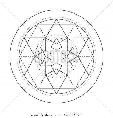 sacred geometry symbol illustration. Vector energy star
