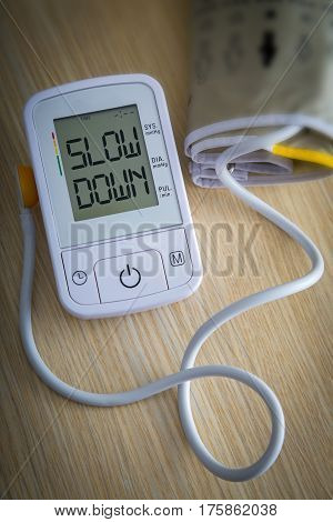 Digital Blood Pressure Monitor With Message