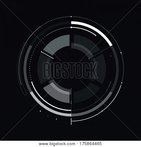 Hud Futuristic Template. Light Digital Of Technology Design. Vector Stock.