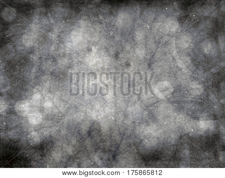 Gray abstract background with scratches, textured pattern