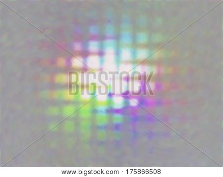 Vector colorful spots. Abstract background with iridescent mesh gradient. Colorful noise, special effect. Colorful shades. Visual illusion of oil paintings